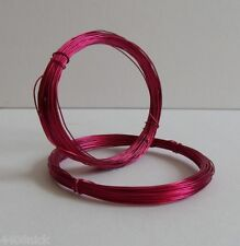 0.6 mm (22 gauge) DEEP  PINK CRAFT/JEWELLERY WIRE 10metres