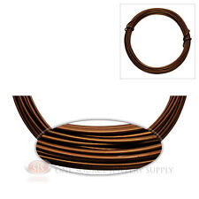 Matte Brown Aluminum Craft Wire Wrapping 12 GA. Sculpture 39 Ft. Floral Jewelry