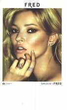 PUBLICITE ADVERTISING 2011  FRED bijoux joaillerie KATE MOSS