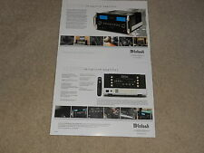 McIntosh MA8000 Integrated Amplifier Brochure 2 pages, Specs, Info