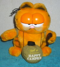 "DAKIN 1978 GARFIELD CAMPING NOT A HAPPY CAMPER 9"" PLUSH TOY"