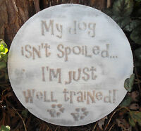 Dog plaque mold garden ornament stepping stone mould