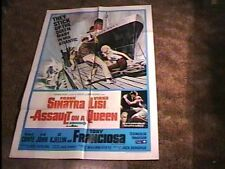 ASSAULT ON A QUEEN MOVIE POSTER '66 FRANK SINATRA NAVAL