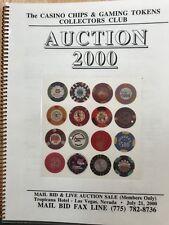 "2000 CASINO CHIP AUCTION CATALOG CC&GTCC CCA  GAMBLING ""POKER CHIP"""