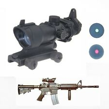 1x32 Tactical ACOG Illumination Red/Green Dot Sight Rifle Scope Airsoft Hunting