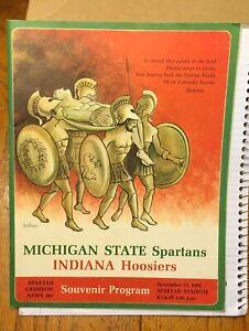 1965 MICHIGAN STATE SPARTANS SOUVENIR PROGRAM VS INDIANA HOOSIERS 10/13/65