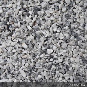 Steinteppich Set in Grau Grigio Bardiglio 25 kg + Bindemittel Epoxidharz