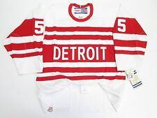 NICKLAS LIDSTROM DETROIT RED WINGS AUTHENTIC 1992 VINTAGE CCM 6100 JERSEY SZ 48