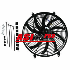 "16"" Slim Fan Push Pull Electric Radiator Cooling 12V Mount Kit Universal 16inch"