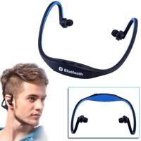 universel sans fil bluetooth sport stéréo musique casque à écouteurs bleu L8