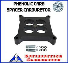 "1"" Phenolic Carb Spacer Carburetor Ported Fits Edelbrock Holley Sbc Bbc Chevy"