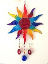 Suncatcher Sun Rainbow Colours With Beads Wire And Resin 30cm
