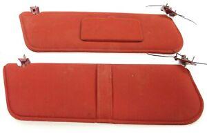 1990 Ford F250 F350 Bronco OEM left and right red sun visor sunvisor 87 88 89 91