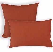 Aa187a Plain Reddish Brown Cotton Canvas Cushion Cover/Pillow Case*Custom Size*