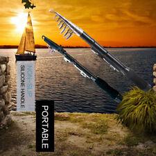 Portable Mini Telescopic Carbon Fiber Pocket Spinning Fishing Rod Pole 82UK