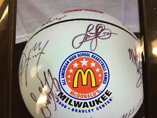 AUTHENTIC AUTOGRAPHED TOPS MCDONALD ALL AMERICAN BASKETBALL