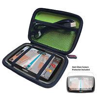 "5"" Hard Case For TomTom PRO 5250/7250 TRUCK + Anti-Glare Screen Protector Kit"