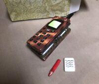 Limoge Style Trinket Box and Trinkets Hinged Treasure Box Miniature Cell Phone