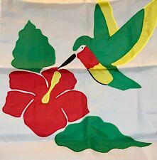 New listing Vintage Hummingbird Large Applique House Flag 28X44
