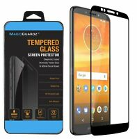 For Motorola MOTO E5 Plus Full Coverage Tempered Glass Screen Protector