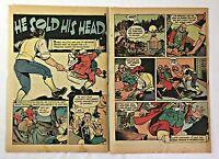 1942 three page cartoon story ~ ROBERT SALLETTE ~ Georgia patriot