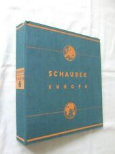 SCHAUBEK 'EUROPA'  2-PEG HIGH CAPACITY STAMP ALBUM, VERY GOOD CONDITION
