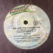 """QUEEN - WE WILL ROCK YOU / WE ARE THE CHAMPIONS  - 1977 Australian 7"""" 45"""