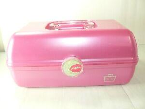 Vtg CABOODLES Cosmetic Make-Up Case Organizer Pink  # 5626 Genuine