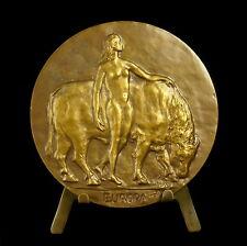 Médaille goddess Déesse Europe fille d'Agénor & Téléphassa taureau bull medal