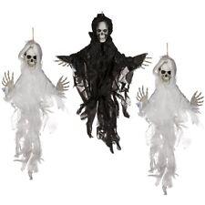 """3x Halloween-Deko Dekoration Grusel-Kunststoff-Figur 75 cm Helloween """"Skull IV"""""""