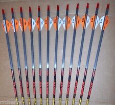 12-Gold Tip Hunter 340 Carbon Arrows Blazer Vanes CUT TO LENGTH!