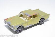LESNEY MATCHBOX SUPERFAST 31 LINCOLN CONTINENTAL MET. GREEN GOOD CONDITION