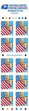 U.S. BKLT PANE OF 10 SCOTT#2920De 1995 32ct FLAG/PORCH MINT VAR P#'s AT FACE