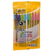 BiC Cristal Fun Assorted Ball Pen 10 pack 1.6mm 3 Blue 3 pink 2 purple 2 green