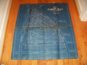 1926 Map Elmora Hills Elizabeth New Jersey Grassman & Kreh Surveyors Engineers