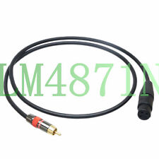 DIY Unbalanced Leads L-2T2S XLR Female 3Pin to RCA AV male Red Audio cable phono