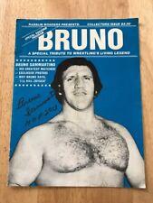 Bruno Sammartino HOF 2013 Signed WWF WWWF WWE Special Souvenir Program