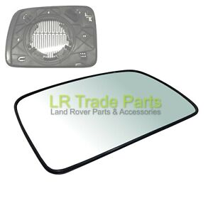 LAND ROVER DISCOVERY 3 NEW FRONT RHS DRIVERS O/S HEATED DOOR WING MIRROR GLASS