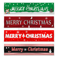 Merry Christmas Outdoor Banner Polyester Large Bunting Xmas Home Party Ornaments