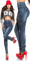 Women's Clubbing Jeans Trouser Top Ladies Party High Waist Pant size 8 10 12 14