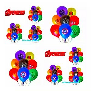 Avengers 10 Latex Birthday Party Balloons. Avengers Party Decorations Supplies