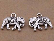 P1610 6pc Retro Tibetan Silver elephant Charm Beads Pendant Jewellery Making