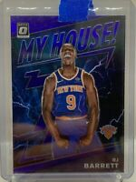 2019-20 Panini Donruss Optic RJ Barrett My House Purple Prizm New York Knicks!!!