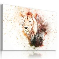 PAINTING LION DRAWING ANIMALS PRINT CANVAS WALL ART PICTURE  AB31  MATAGA