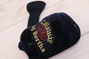 Callaway Big Bertha S2H2 Driver 1 Wood Original Head Club Cover Knit Dark Blue