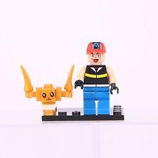 4 SET POKEMON GO Mini Figures PIKACHU POKEBALL Building Blocks Toys Fit Lego