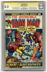 Iron Man 55 (CGC Signature Series 6.5) 1st Thanos, Mentor, Drax, Starfox B561