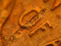 1953-S Lamination US Mint Error Lincoln Wheat Cent