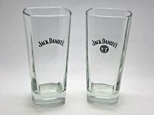 2 x JACK DANIELS TALL GLASSES - GLASS TUMBLER HOME BAR WHISKEY WHISKY HI BALL