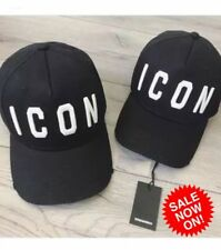 DSQUARED ICON Distressed Black ICON Baseball Cap Dsquared2 - UK Seller